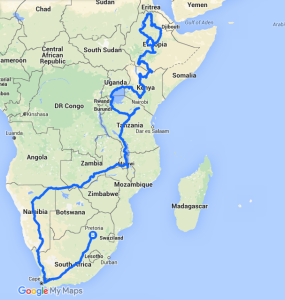 route, africa, great african trek